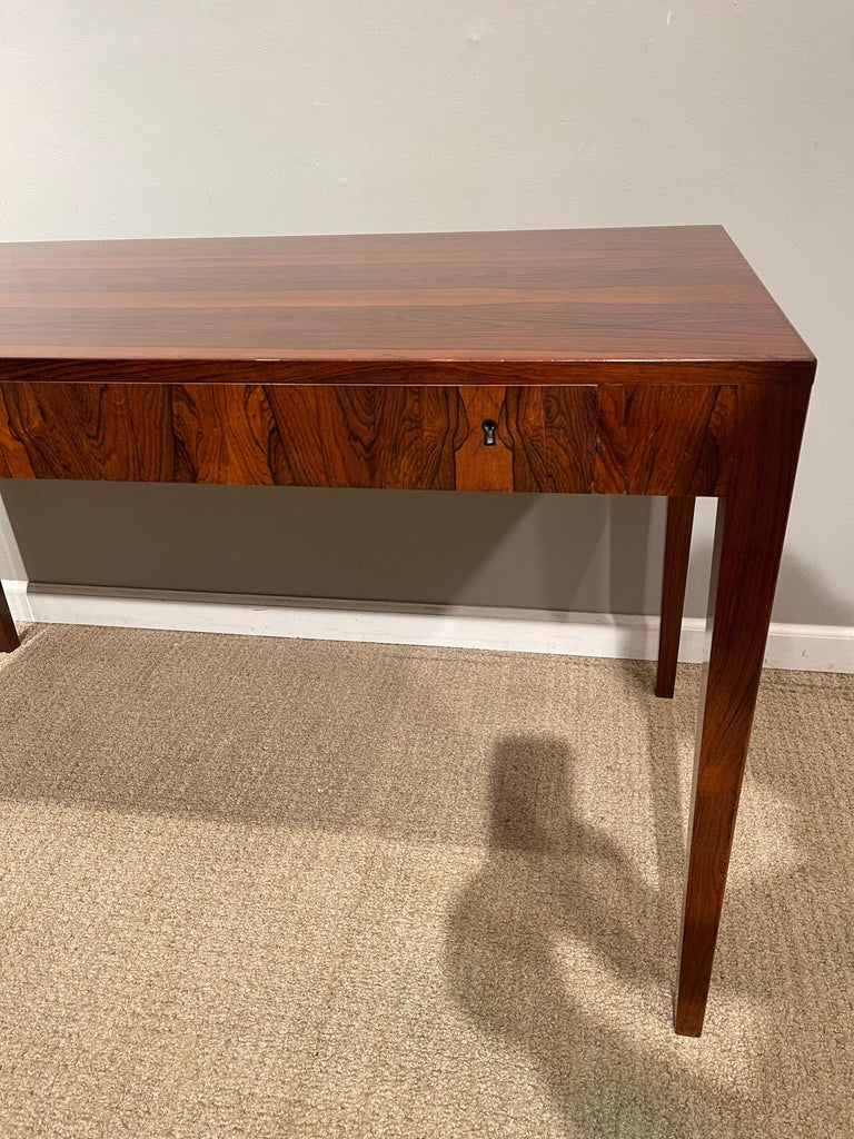 Rosewood Danish Modern Writing Table, by Riis Antonsen In Good Condition For Sale In New York, NY