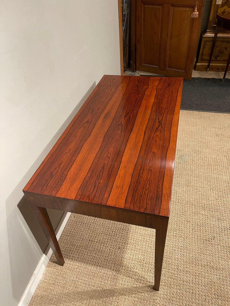 Mid-20th Century Rosewood Danish Modern Writing Table, by Riis Antonsen For Sale