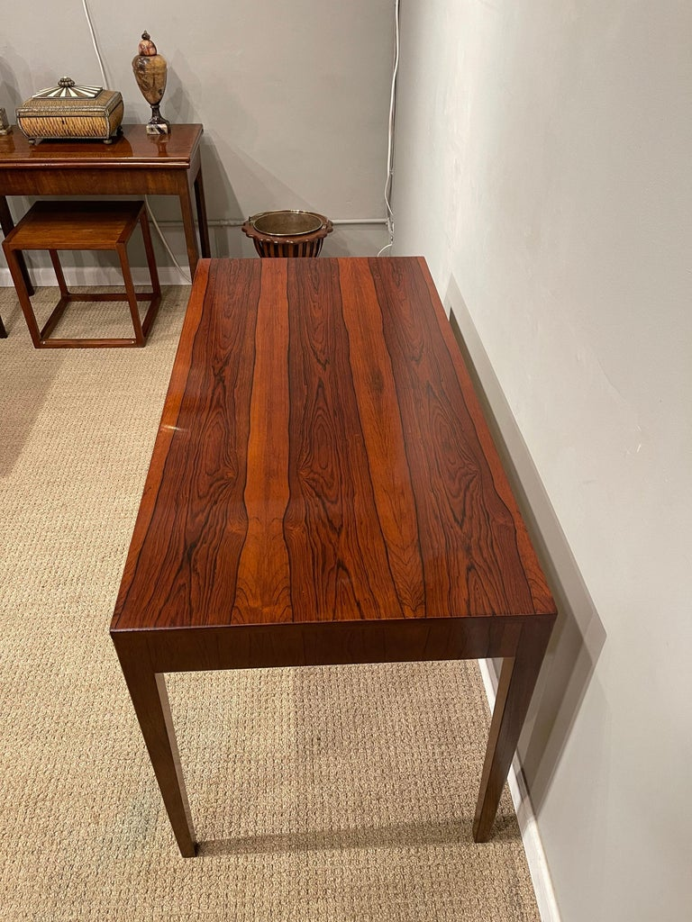Rosewood Danish Modern Writing Table, by Riis Antonsen For Sale 1