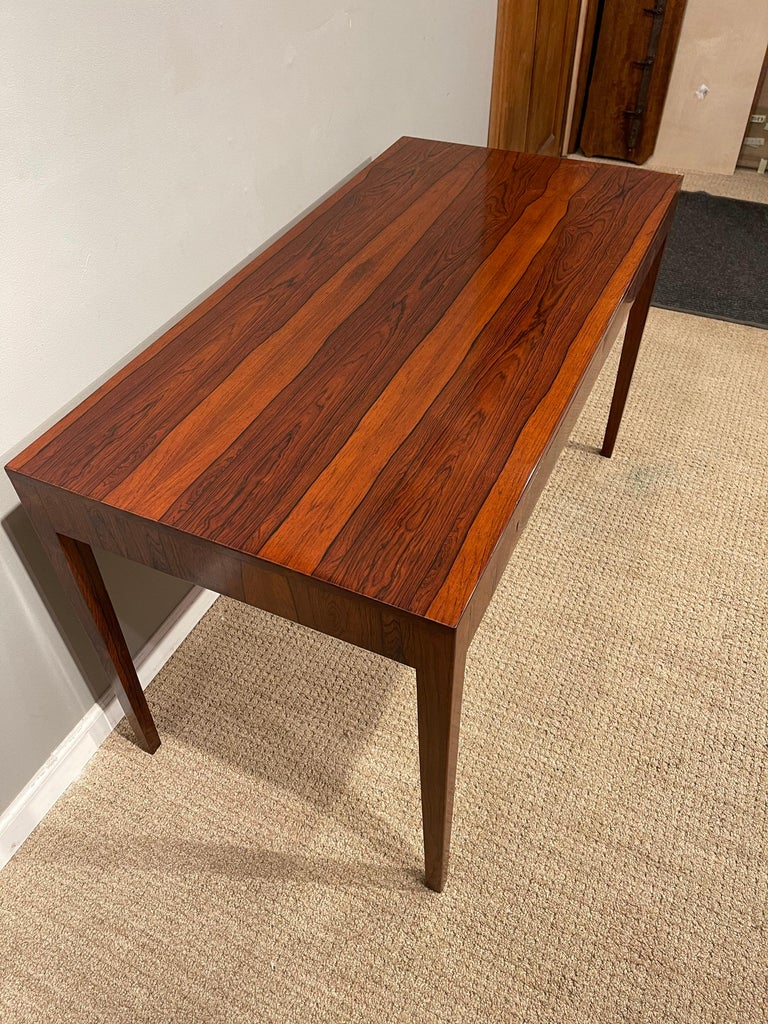 Rosewood Danish Modern Writing Table, by Riis Antonsen For Sale 3