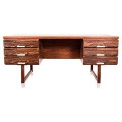 Rosewood Desk by Kai Kristiansen, Feldballes Mobelfabrik, 1960s