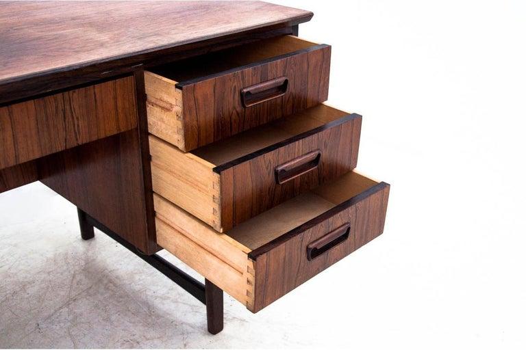 Scandinavian Modern Rosewood Desk, Denmark, 1960s For Sale