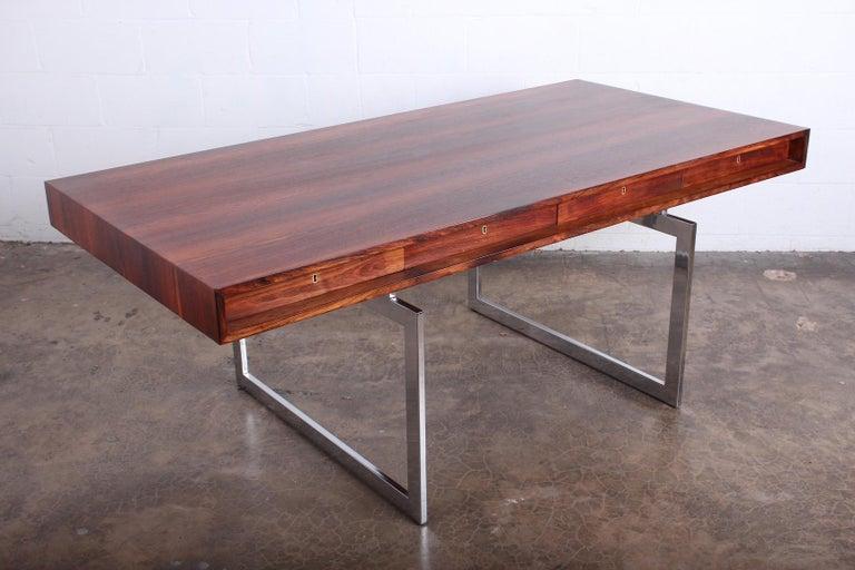 Rosewood Desk Model 901 by Bodil Kjaer for E. Pedersen & Søn For Sale 6
