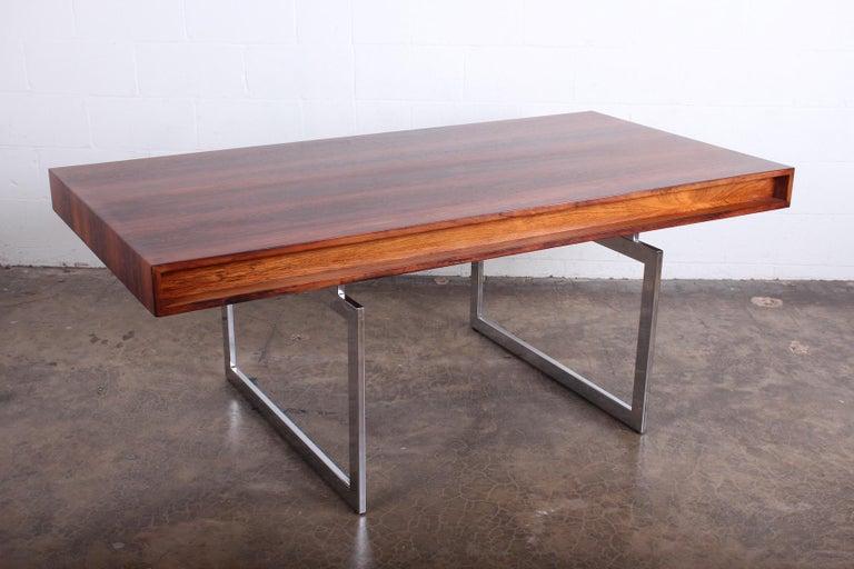 Rosewood Desk Model 901 by Bodil Kjaer for E. Pedersen & Søn For Sale 7