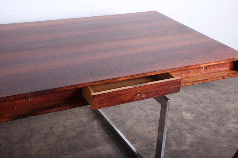 Rosewood Desk Model 901 by Bodil Kjaer for E. Pedersen & Søn For Sale 9