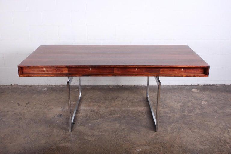 Rosewood Desk Model 901 by Bodil Kjaer for E. Pedersen & Søn In Good Condition For Sale In Dallas, TX