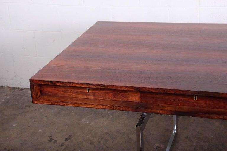 Mid-20th Century Rosewood Desk Model 901 by Bodil Kjaer for E. Pedersen & Søn For Sale