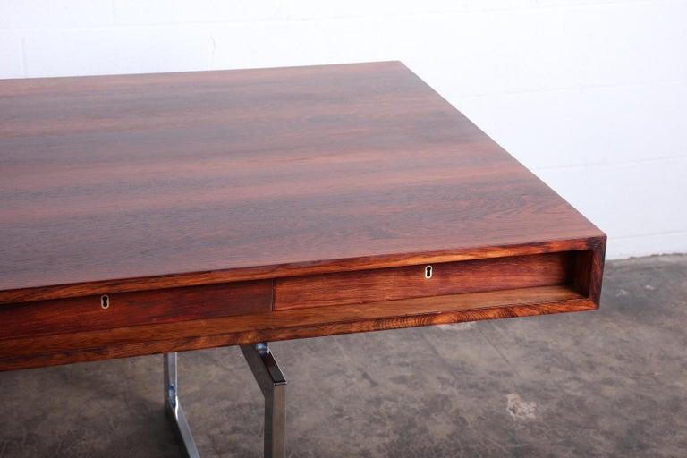 Rosewood Desk Model 901 by Bodil Kjaer for E. Pedersen & Søn For Sale 1