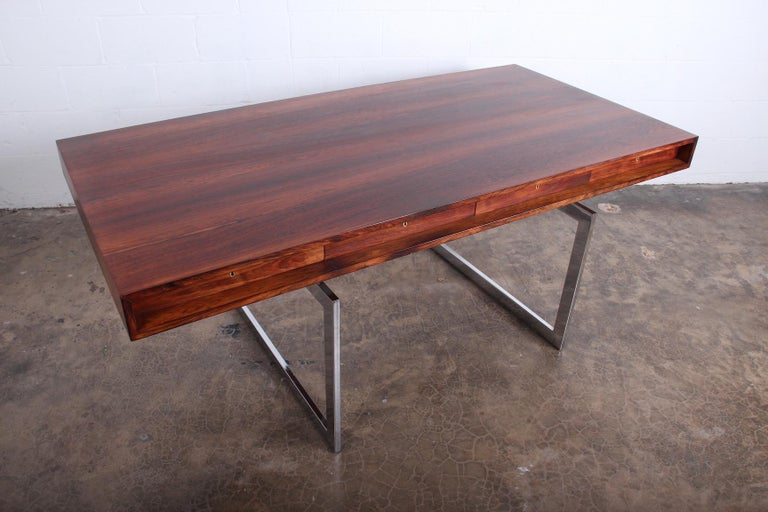Rosewood Desk Model 901 by Bodil Kjaer for E. Pedersen & Søn For Sale 3