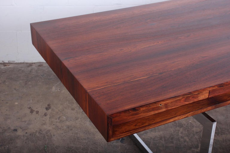 Rosewood Desk Model 901 by Bodil Kjaer for E. Pedersen & Søn For Sale 4