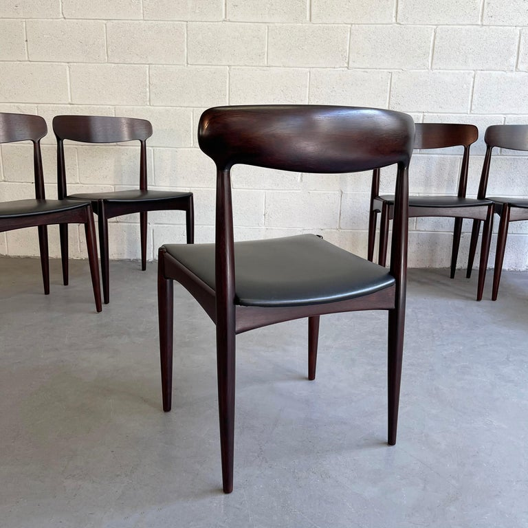 Rosewood Dining Chairs by Johannes Andersen for Uldum Møbelfabrik For Sale 3