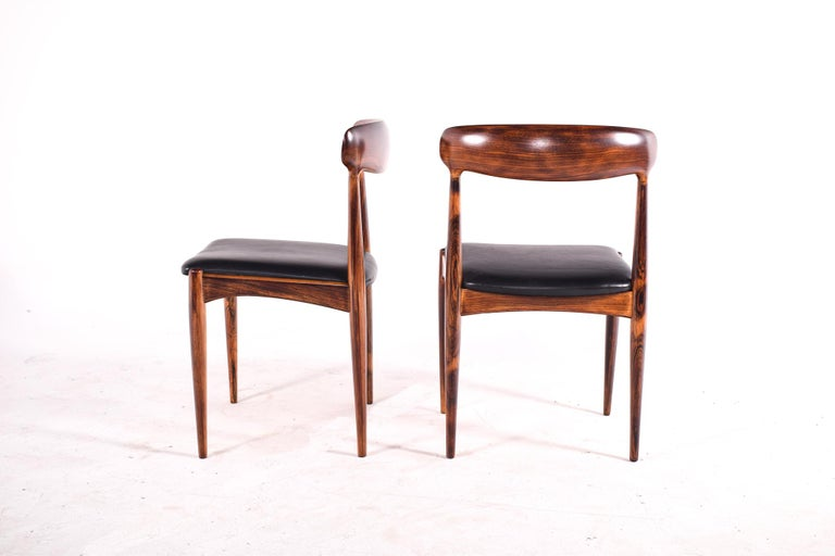 Rosewood Dining Chairs by Johannes Andersen for Uldum M∅belfabrik For Sale 4