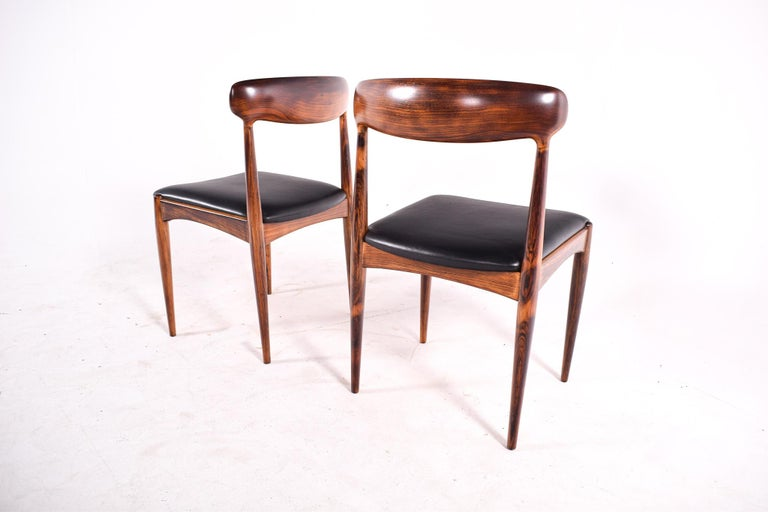 Rosewood Dining Chairs by Johannes Andersen for Uldum M∅belfabrik For Sale 5