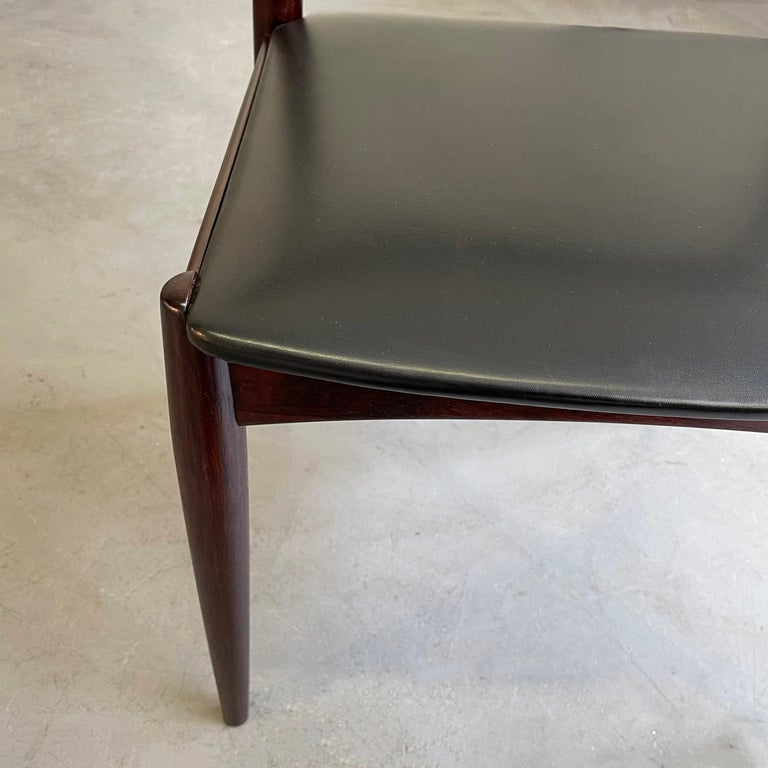 Rosewood Dining Chairs by Johannes Andersen for Uldum Møbelfabrik For Sale 5