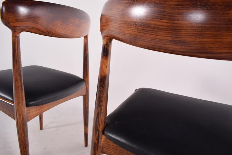 Rosewood Dining Chairs by Johannes Andersen for Uldum M∅belfabrik For Sale 6