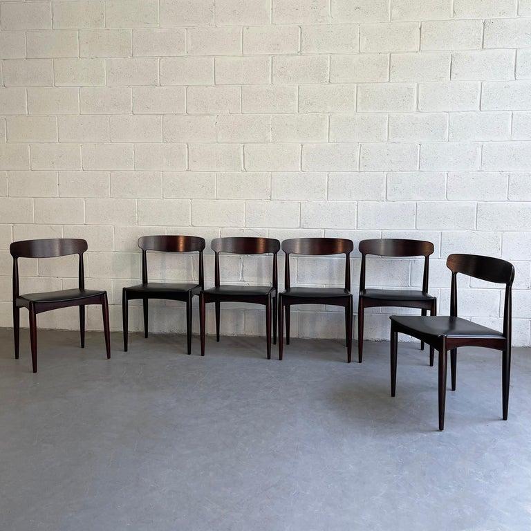 Scandinavian Modern Rosewood Dining Chairs by Johannes Andersen for Uldum Møbelfabrik For Sale