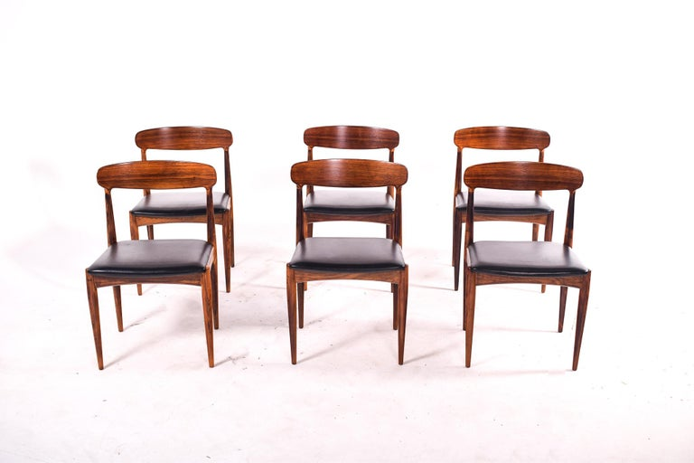Mid-Century Modern Rosewood Dining Chairs by Johannes Andersen for Uldum M∅belfabrik For Sale