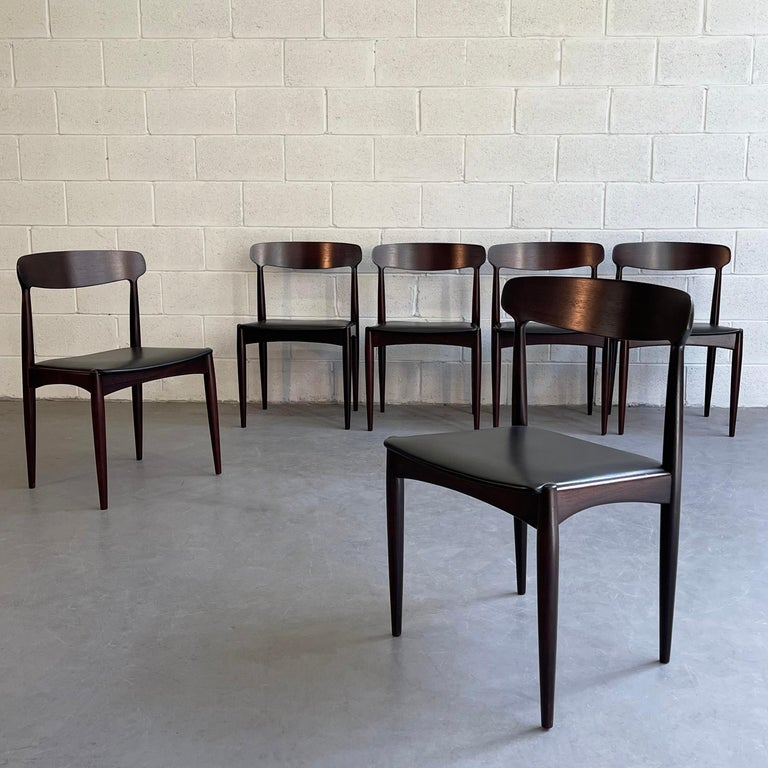 Danish Rosewood Dining Chairs by Johannes Andersen for Uldum Møbelfabrik For Sale