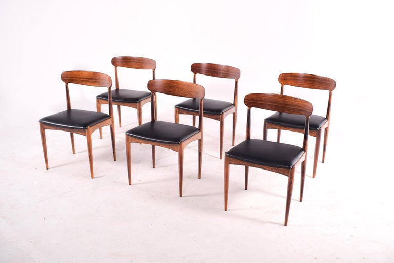 Danish Rosewood Dining Chairs by Johannes Andersen for Uldum M∅belfabrik For Sale
