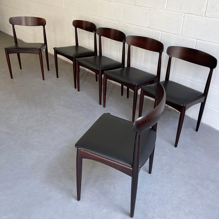 Rosewood Dining Chairs by Johannes Andersen for Uldum Møbelfabrik In Good Condition For Sale In Brooklyn, NY