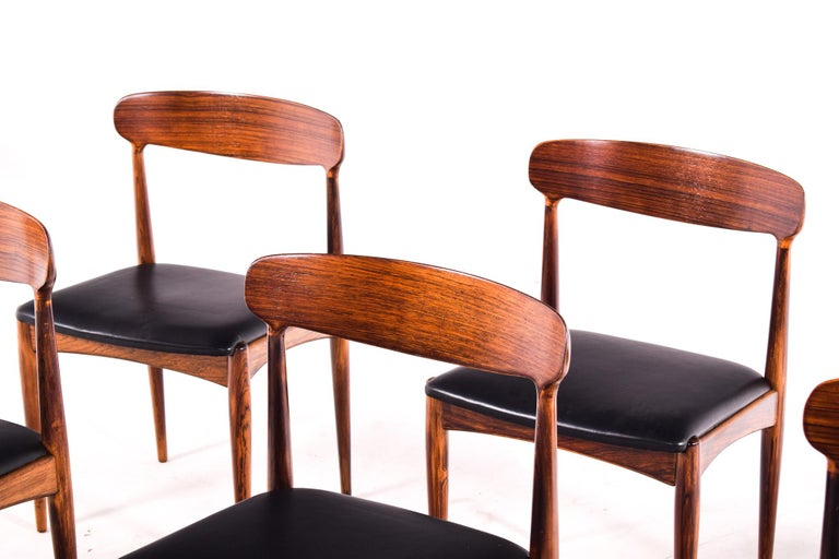 Rosewood Dining Chairs by Johannes Andersen for Uldum M∅belfabrik In Good Condition For Sale In Lisboa, Lisboa