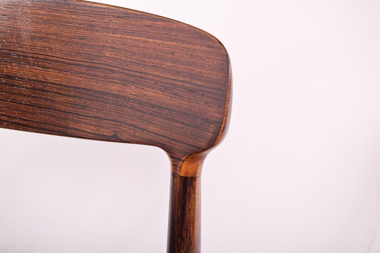 Rosewood Dining Chairs by Johannes Andersen for Uldum M∅belfabrik For Sale 1