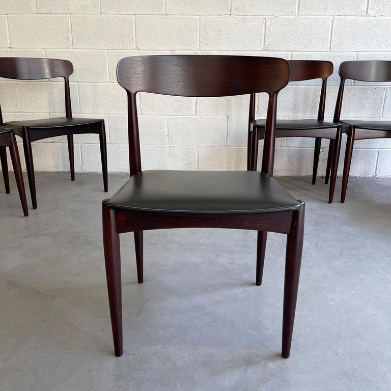 Rosewood Dining Chairs by Johannes Andersen for Uldum Møbelfabrik For Sale 1