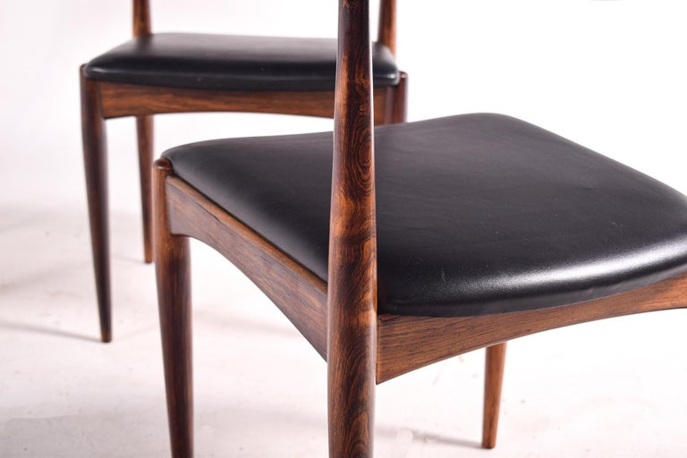 Rosewood Dining Chairs by Johannes Andersen for Uldum M∅belfabrik For Sale 2