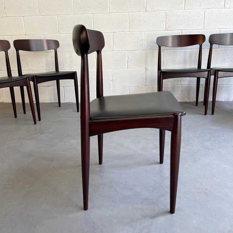 Rosewood Dining Chairs by Johannes Andersen for Uldum Møbelfabrik For Sale 2