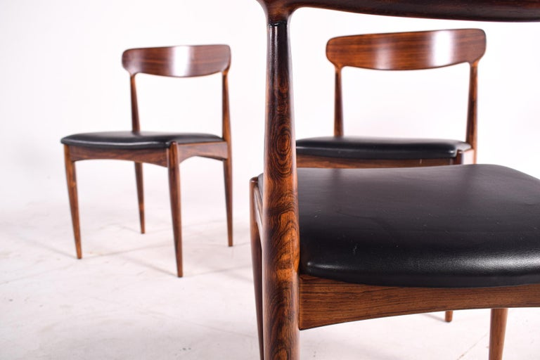 Rosewood Dining Chairs by Johannes Andersen for Uldum M∅belfabrik For Sale 3