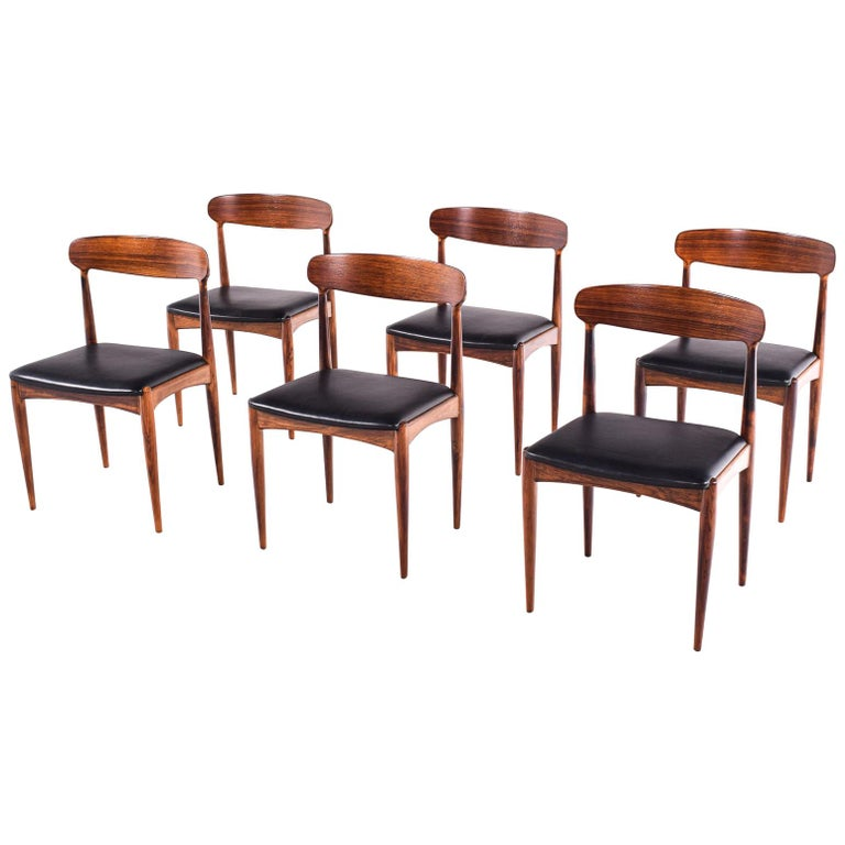 Rosewood Dining Chairs by Johannes Andersen for Uldum M∅belfabrik For Sale