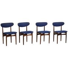 Rosewood Dining Chairs by Slagelse Møbelvaerk, Denmark, Set of Four