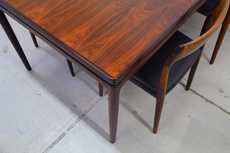Rosewood Dining Table By Johannes Andersen For Christian