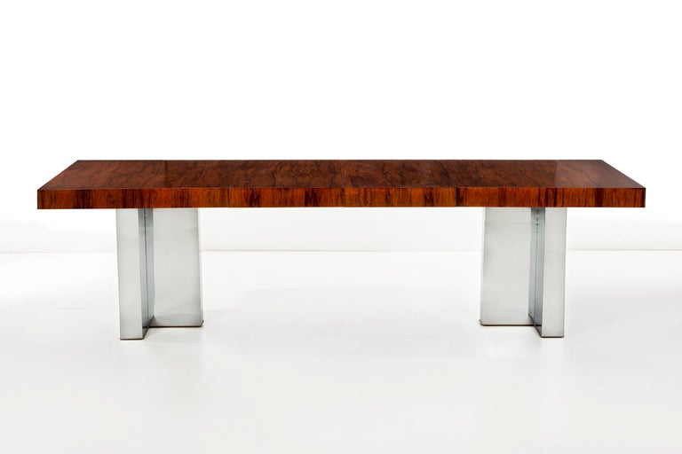 Rosewood Dining Table by Milo Baughman In Good Condition For Sale In Chicago, IL