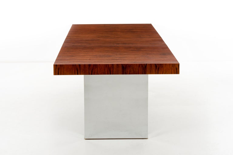 Late 20th Century Rosewood Dining Table by Milo Baughman For Sale