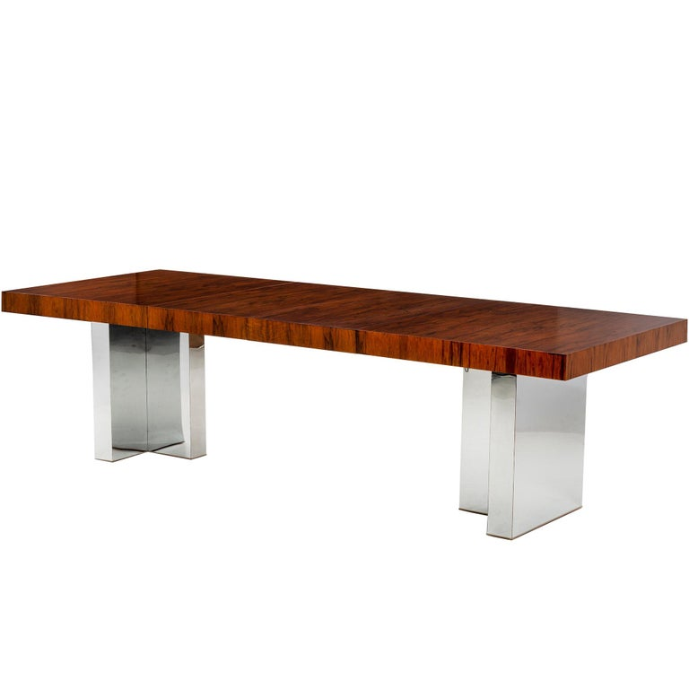 Rosewood Dining Table by Milo Baughman For Sale