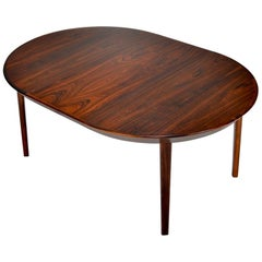 Rosewood Dining Table by Ole Hald for Gudme Mobelfabrik
