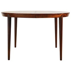 Rosewood Dining Table Model 71 by Severin Hansen for Haslev Møbelsnedkeri