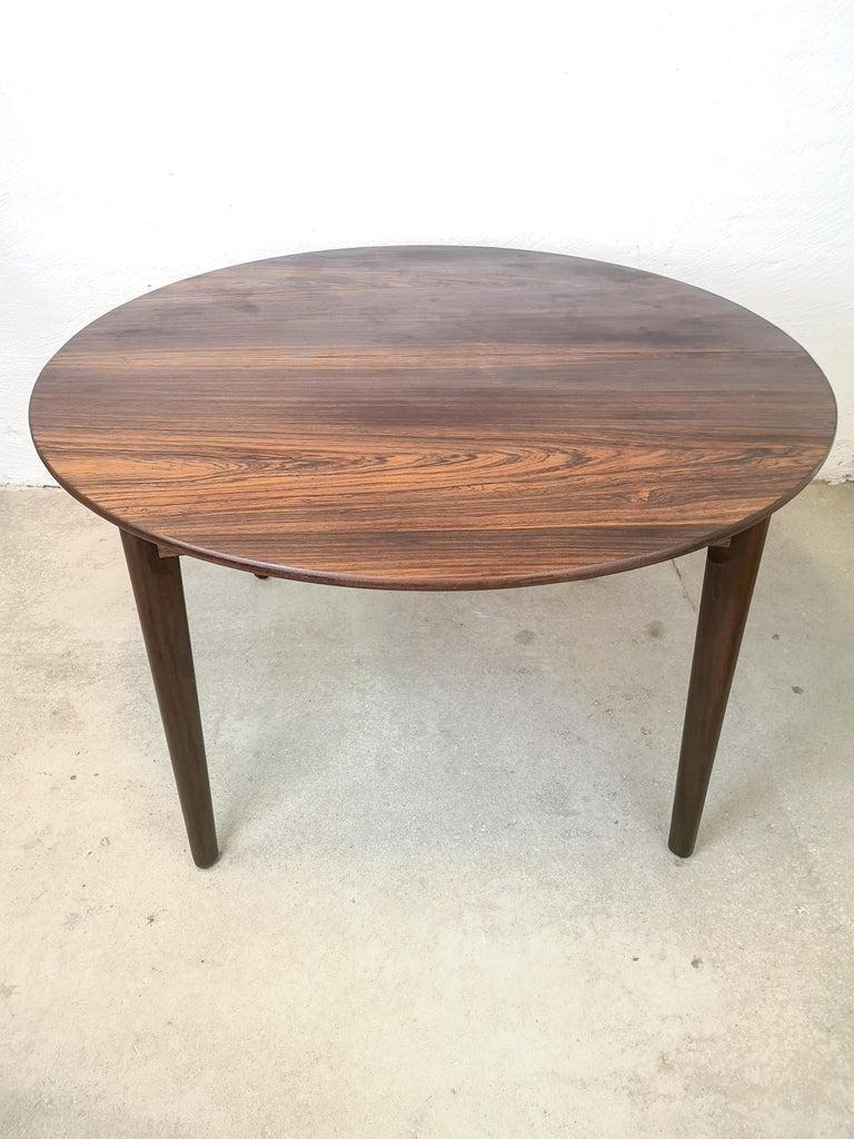 Rosewood Dinner Table H P Hansen Furniture Denmark