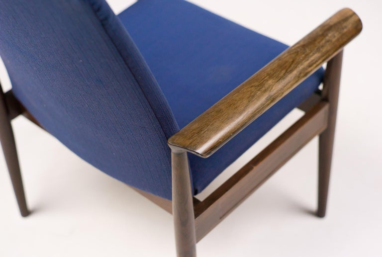 Mid-20th Century Rosewood Diplomat Chair by Finn Juhl For Sale