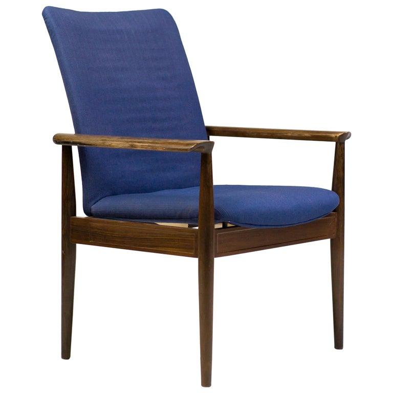 Rosewood Diplomat Chair by Finn Juhl For Sale