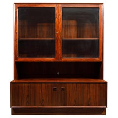 Rosewood Display Cabinet by Eric Brouer for Brouer Møbelfabrik, 1960s, Signed