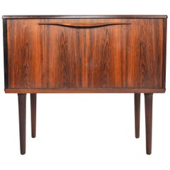Rosewood Drop Down Bar Chest by Lyby Mobler