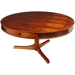 Rosewood Drum Table by Robert Heritage for Archie Shine, circa 1957