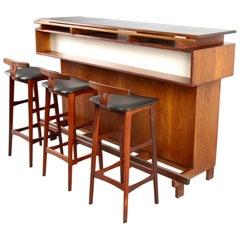 Rosewood Dry Bar Set by Erik Buch for Dyrlund