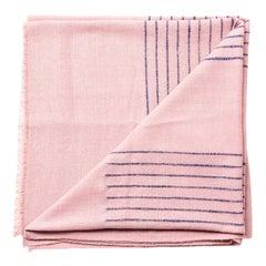 Rosewood Dusty Pink Handloom Queen Size Bedspread Coverlet  in Stripe Design