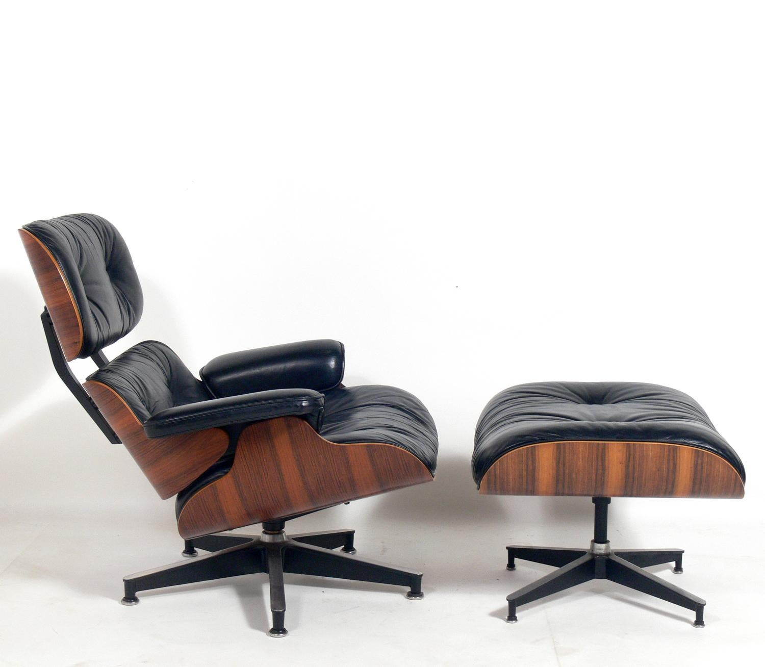 Miraculous Rosewood Eames Lounge Chair And Ottoman For Herman Miller Inzonedesignstudio Interior Chair Design Inzonedesignstudiocom