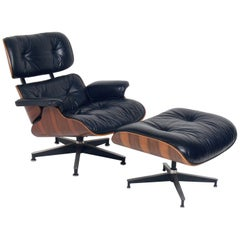 Rosewood Eames Lounge Chair and Ottoman for Herman Miller