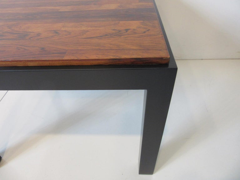 Rosewood / Ebony Parson Side Tables in the Style of Milo Baughman For Sale 1