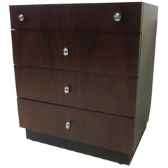 Rosewood Ebony Small Chest / Nightstand by American of Martinsville